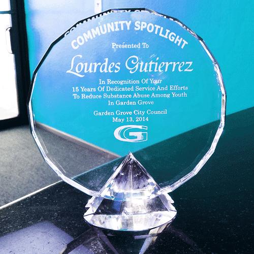 Community Spotlight Crystal Award